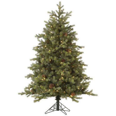 - Vickerman Pre-Lit 6' Rocky Mountain Fir Artificial Christmas Tree with EZ Plug, Dura-Lit, Clear Lights