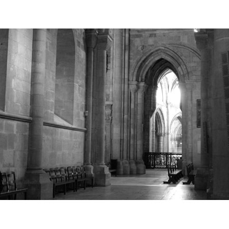 - LAMINATED POSTER Arches Portugal Black And White Church Poster Print 24 x 36