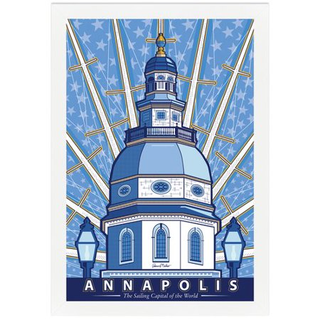 Melissa Van Hise Annapolis  Sailing Capital Of The World By Ramon Matheu Framed Graphic Art
