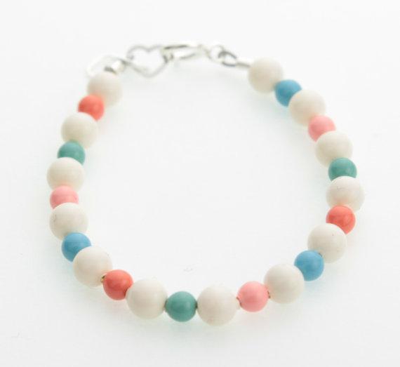 Multi Color Coral Pearls Beaded Bracelet