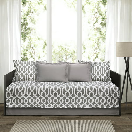 Island Daybed Set (Edward trellis Gray 6Pc Daybed Cover Set)