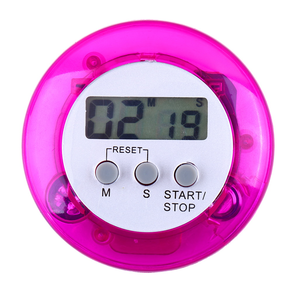 New Cute Mini Round LCD Digital Cooking Home Kitchen Countdown Up Down Timer Alarm