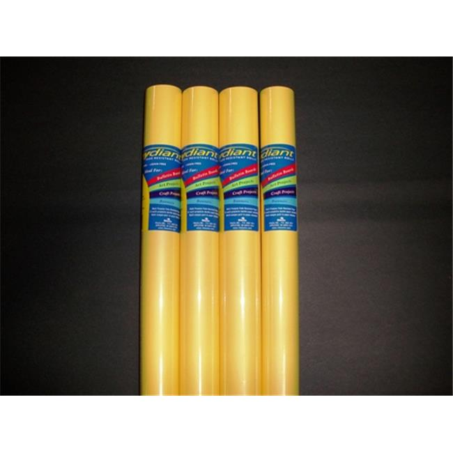 RiteCo Raydiant 80187 Riteco Raydiant Fade Resistant Art Rolls Light Yellow 48 In. X 50 Ft. 4 Pack