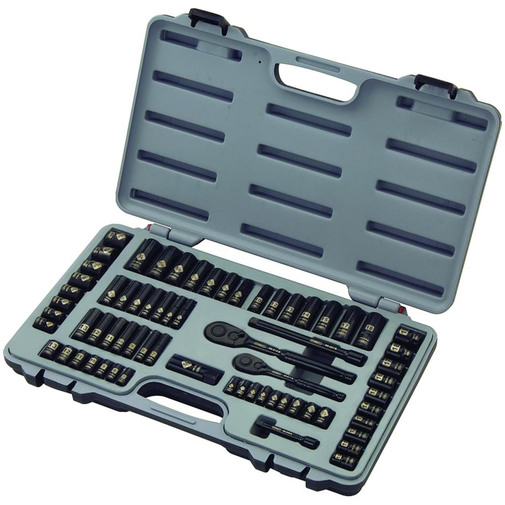 69-Piece Black Chrome Mechanics Tool Set