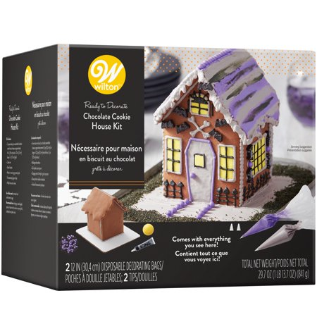 Wilton Halloween Ready-to-Decorate Chocolate Cookie House Decorating Kit for $<!---->