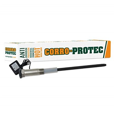 corro-protec cp-r water heater powered titanium anode rod (40-80 gallon tank) - eliminate odor (sulfur/rotten egg smell), corrosion and reduce (80 Gallon Electric Hot Water Heater Price)