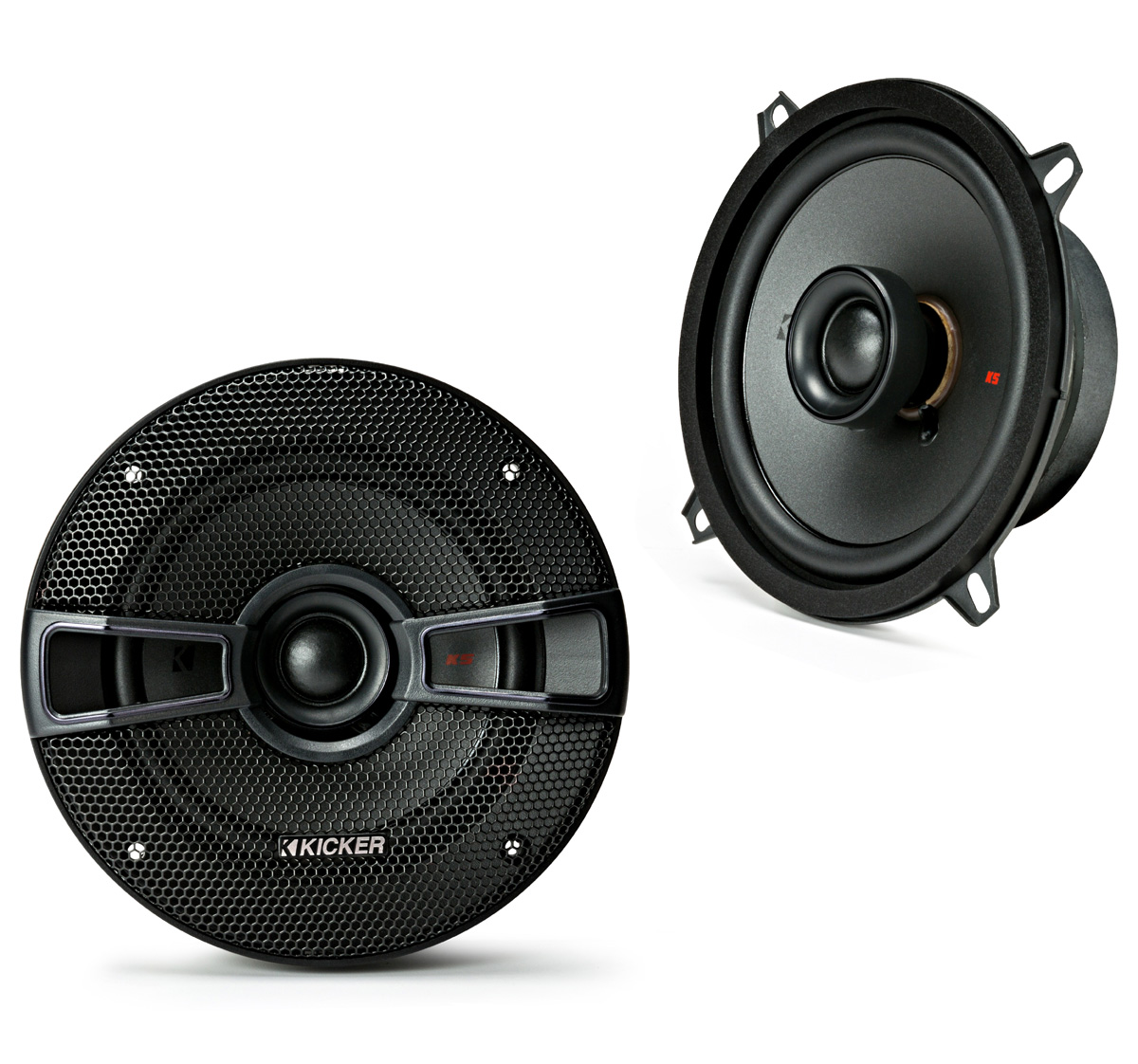 "KICKER 44KSC504 5.25"" (130mm) Coax Spkrs w/.75""(20mm) tweeters, 4ohm, RoHS Compliant"