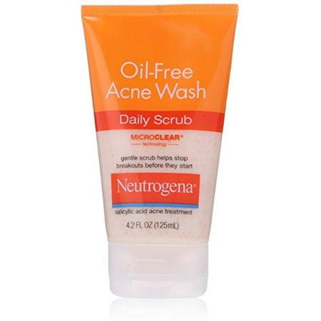 Neutrogena Oil-Free Acne Face Wash Daily Scrub With Salicylic Acid, 4.2 Fl.
