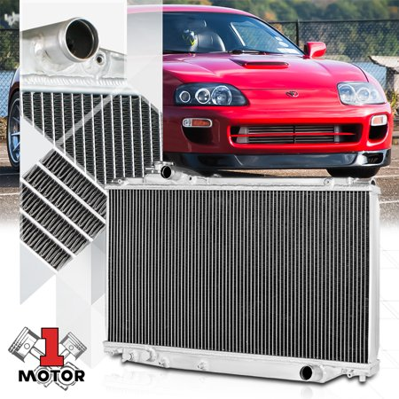 Aluminum 2 Row Core Performance Cooling Radiator for 93-98 Toyota Supra Turbo MT 94 95 96 (96 Toyota Supra Twin Turbo For Sale)