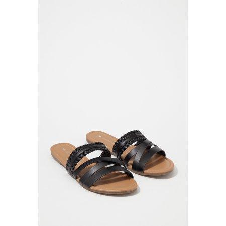 Urban Planet Women's Multi Band Braided Slide Sandal - image 2 of 3