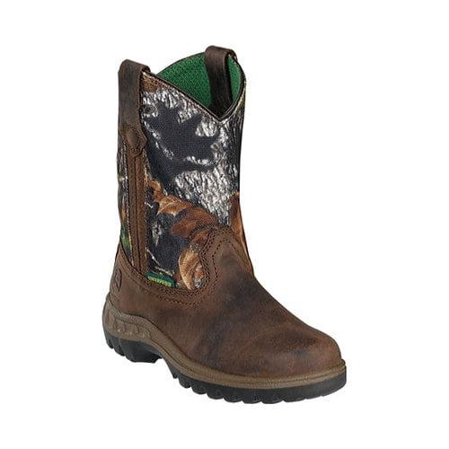Boys' John Deere Boots Mossy Oak Wellington 2468 by John Deere