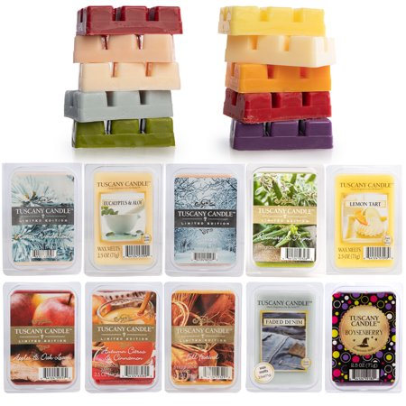 Tuscany (10 Pack) Wax Melts: 60 Soy Candle Wax Cubes, Scented Wax Air Freshener For Wax Warmer, Candle