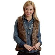 Stetson Western Vest Womens Novelty Faux Fur Brown 11-074-0539-0624 BR