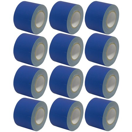 Seismic Audio 12 Pack of Gaffer's Tape - Blue 4 inch Rolls 60 Yards per Roll Gaffers Tape - SeismicTape-Blue604-12Pack