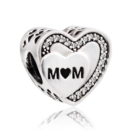 Pandora Tribute to Mum Silver Charm with Clear Cubic Zirconia 792070CZ](Pandora Bow Charm)