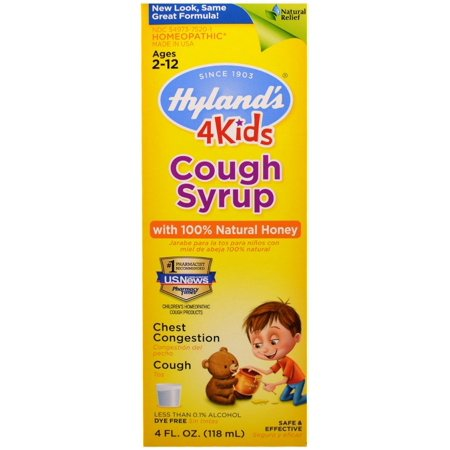 2 Pack - Cough Syrup with 100% Natural Honey 4 Kids 4 oz