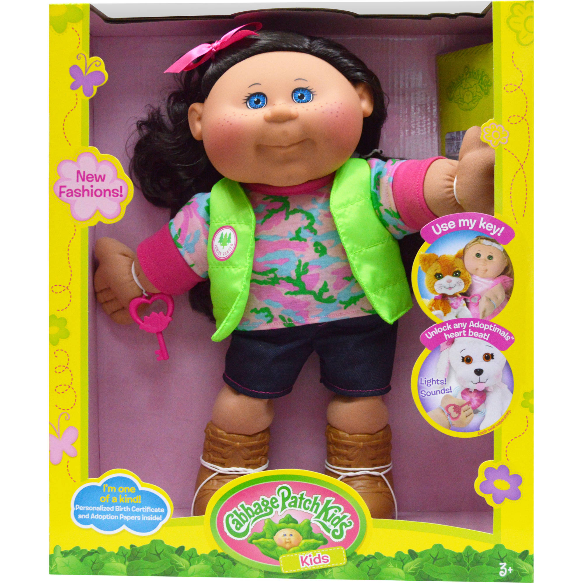 Cabbage Patch Kids Adventure Doll, Brown Hair Blue Eye Girl by Wicked Cool Toys