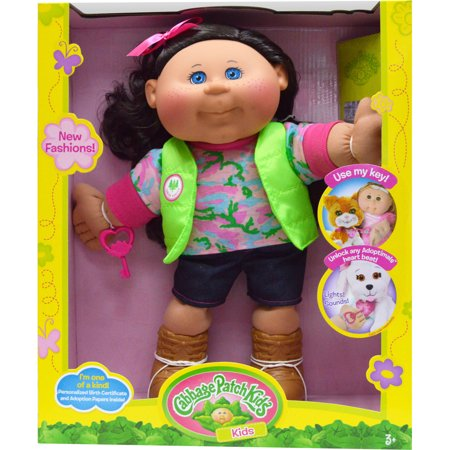 Cabbage Patch Kids Twin (Cabbage Patch Kids Adventure Doll, Brown Hair/Blue Eye Girl )