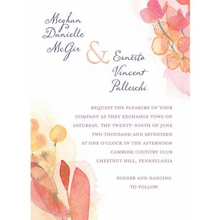Floral Wash Standard Wedding Invitation
