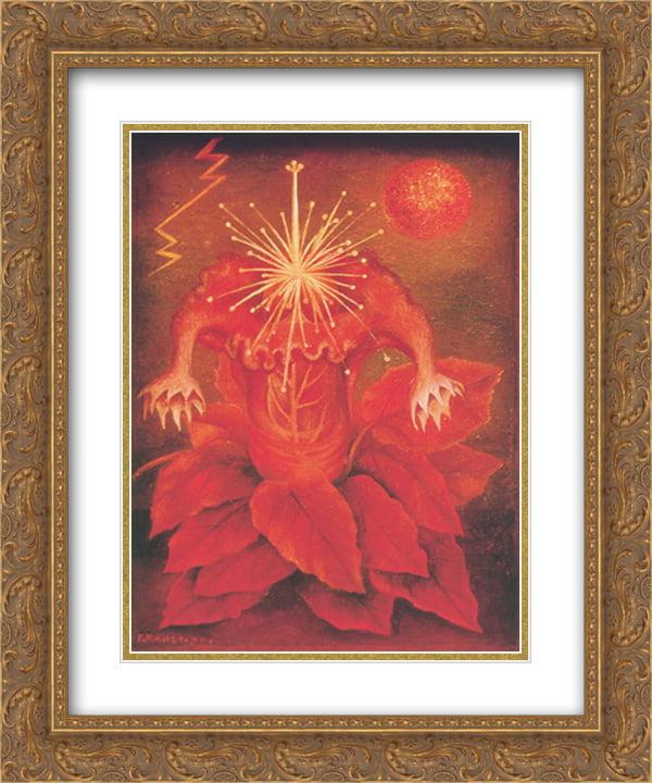 e529873c4a8b Frida Kahlo 2x Matted 20x24 Gold Ornate Framed Art Print  The Flower of  Life  - Walmart.com