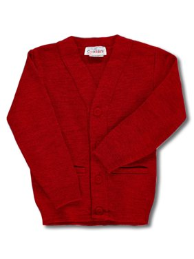 Cookie's Brand Big Boys' Cardigan Sweater (Sizes 8 - 20) - gray, 16