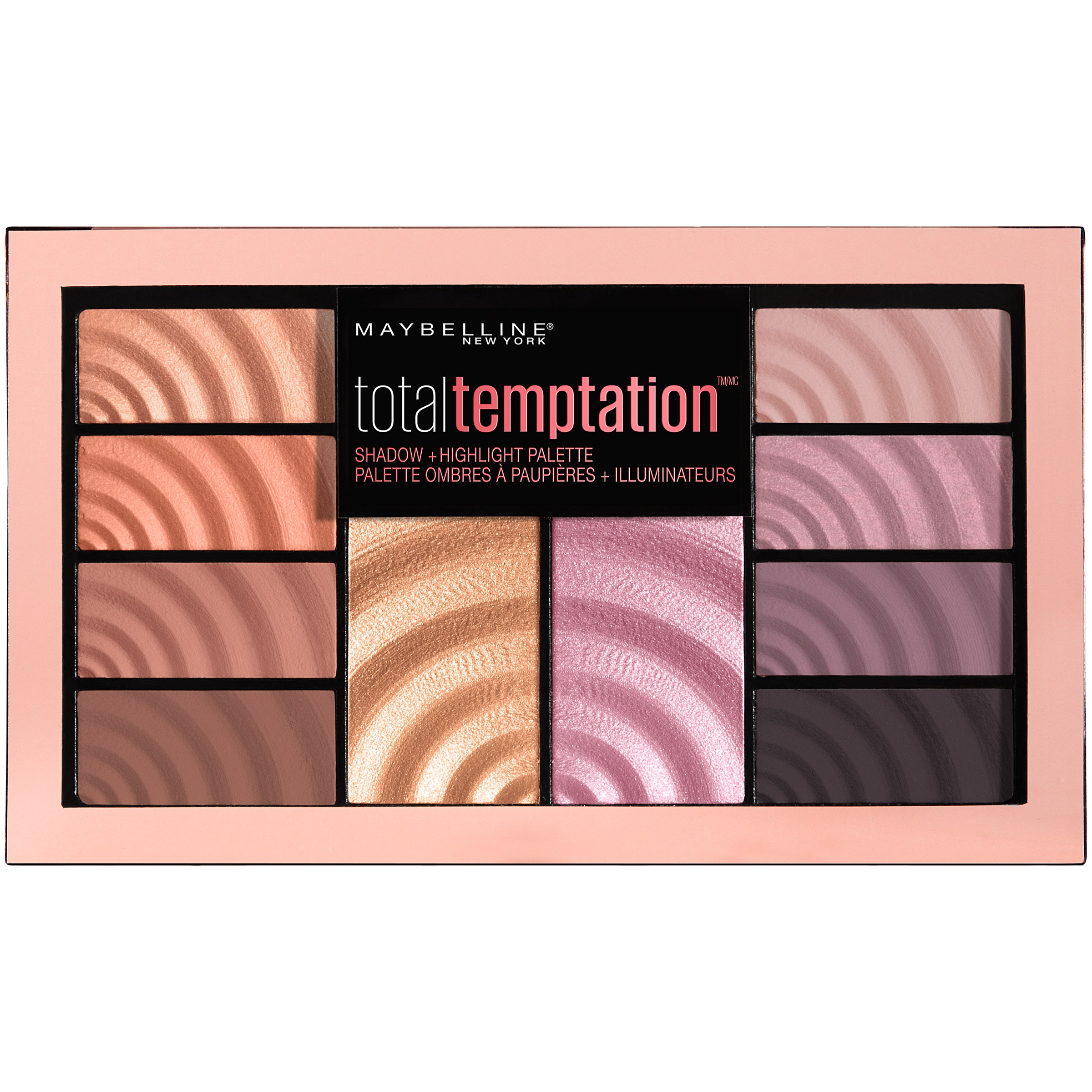 Maybelline New York Total Temptation Shadow + Highlight Palette, 0.42 oz.