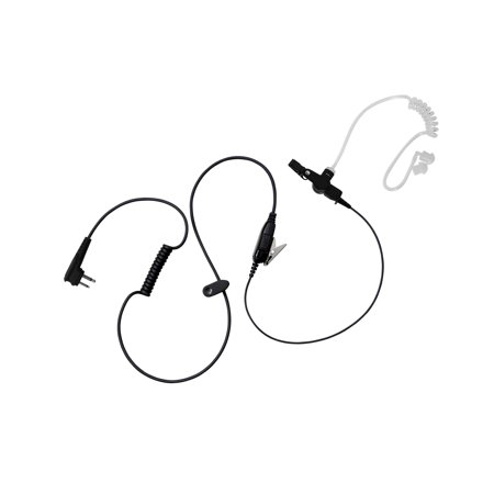 BOMMEOW BCT12-M1A Walkie Talkie 1-WIre Covert Acoustic Tube Surveillance Earpiece for Motorola CLS1410 CP200