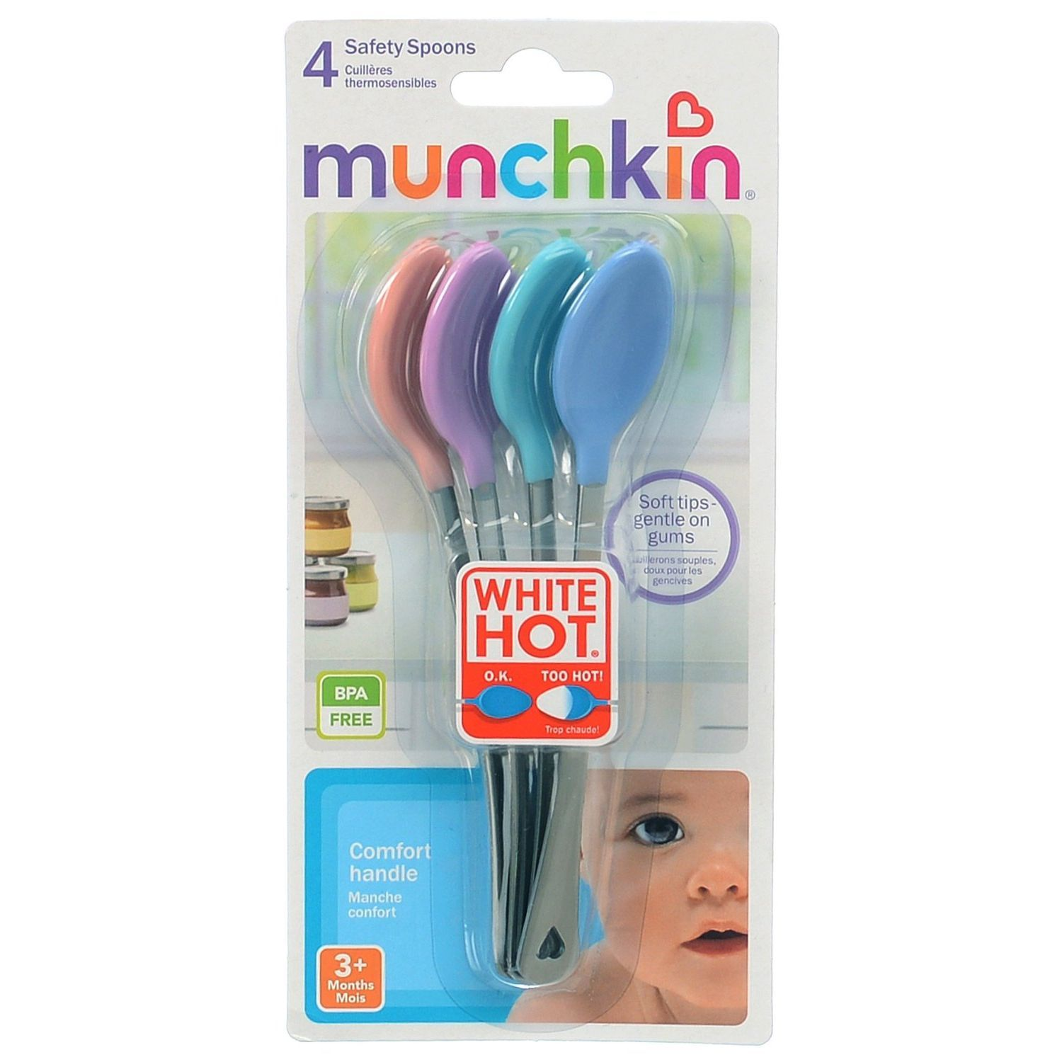 Munchkin White Hot Safety Spoons 4pk