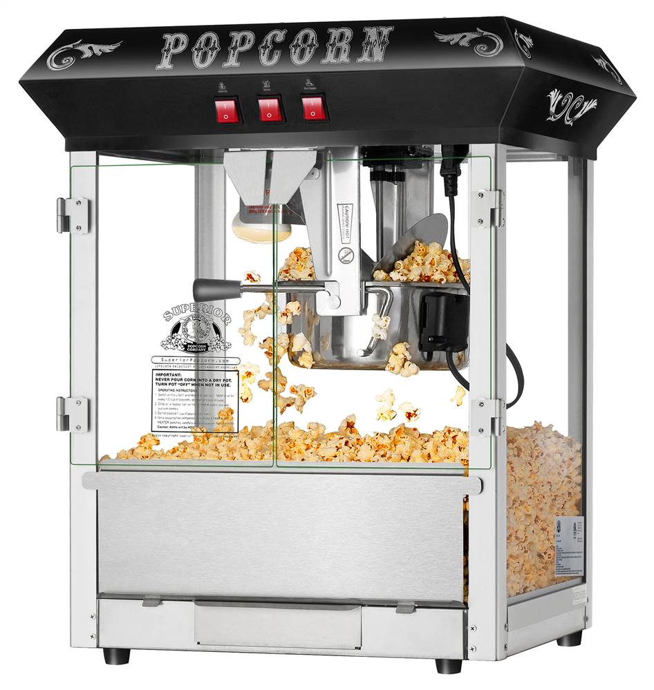 Popcorn Popper Machine in Black