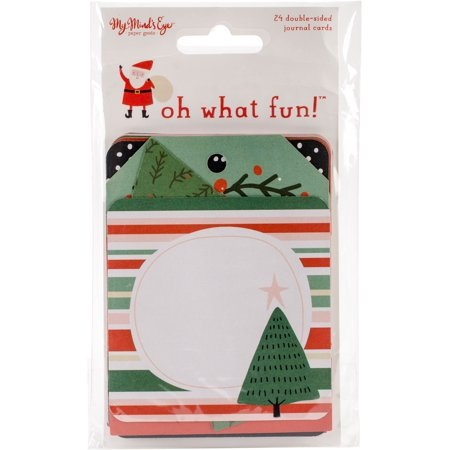 """Oh What Fun Double Sided Journal Cards 24/Pkg-3""""X4"""" """