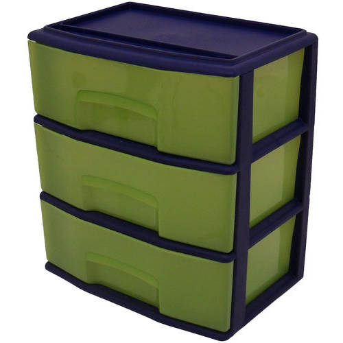 Mainstays Kids Large 3-Drawer Wide Cart