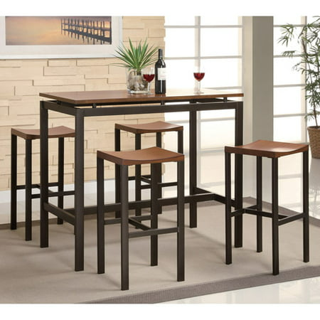 on sale 255de ed405 Coaster 5-Piece Counter Height Table and Chair Set, Multiple Colors
