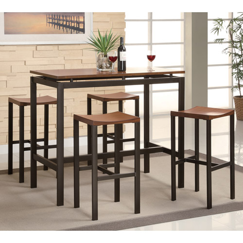 Great Coaster 5 Piece Counter Height Table And Chair Set, Multiple Colors