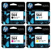 HP 564 Ink Cartridges (Black, Cyan, Magenta, Yellow)