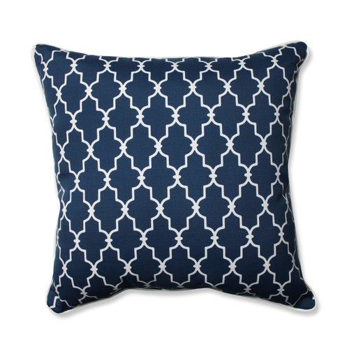Pillow Perfect Outdoor/ Indoor Garden Gate Navy 25-inch Floor Pillow