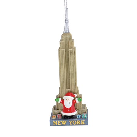 Santa at New York Empire State Building Christmas Holiday Ornament Cape Shore - Halloween Light Show Empire State Building