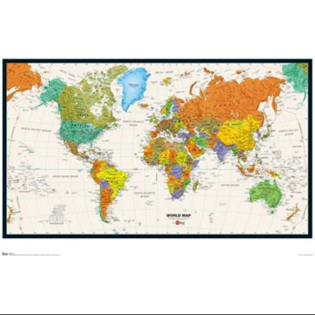 World Map 09 Poster Print 24 x 36