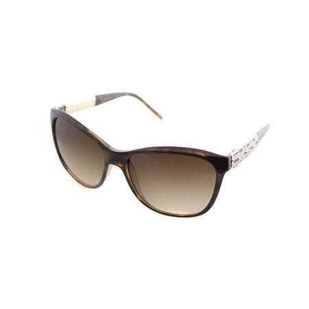 Bvlgari Women's Gradient BV8104-977/13-57 Tortoiseshell Butterfly Sunglasses
