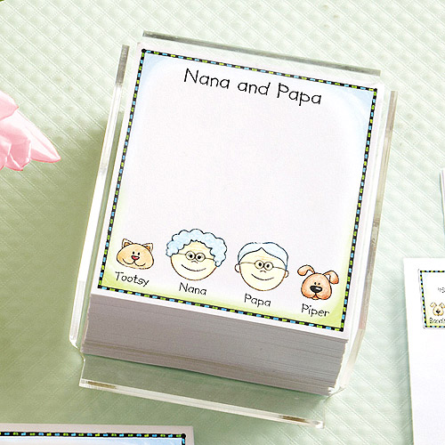 Personalized Friendly Family Characters Memo Sheet Refills, 400 count
