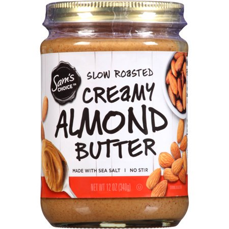 (2 Pack) Sam's Choice Slow Roasted Creamy Almond Butter, 12 oz