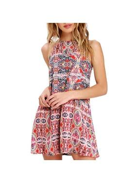 f9e121e4239 Product Image Mosunx Womens Summer Boho Mini Maxi Dress Ladies Halter  Casual Beach Party Shirt Dress