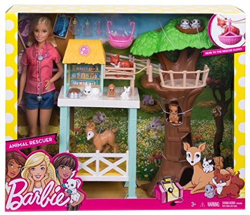 Barbie Animal Rescue Playset, Barbie doll loves animals so she's setting up a rescue... by