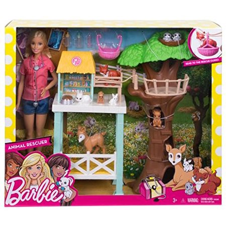 Barbie Animal Rescue Playset, Barbie doll loves animals so she's setting up a rescue center By Mattel