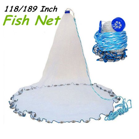 9-16ft Hand Cast Fishing Network Spin Bait Fish Net Fishing Wire Mesh Accessories Tool Gear With
