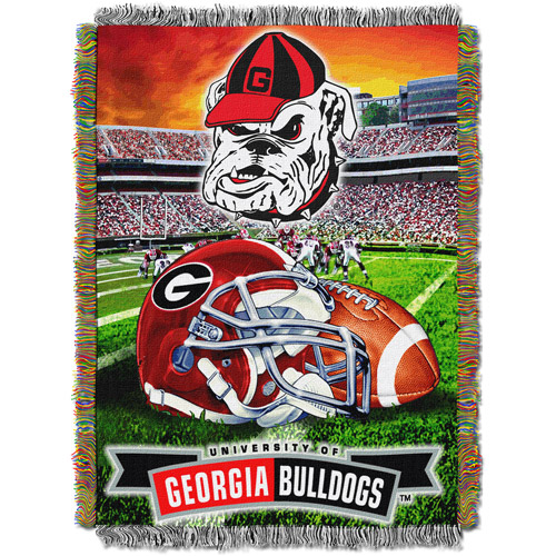"NCAA 48"" x 60"" Tapestry Throw Home Field Advantage Series- Georgia"