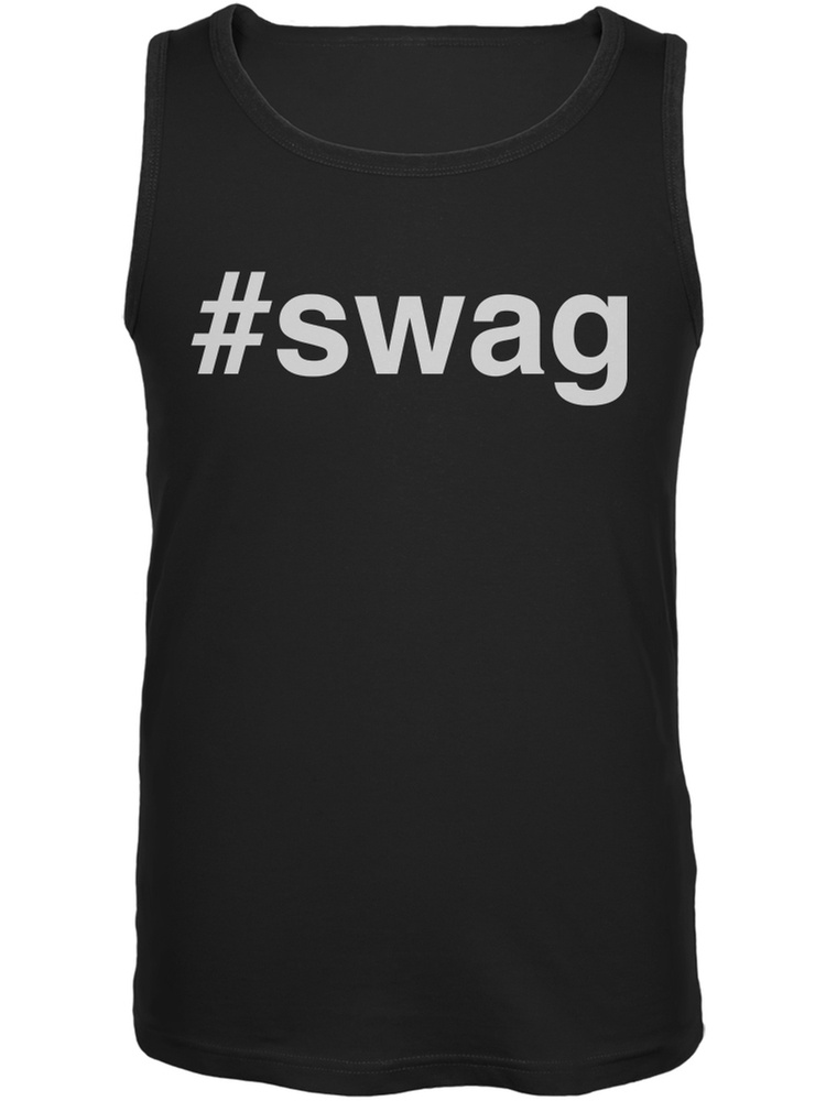 Old Glory #Swag Black Adult Tank Top