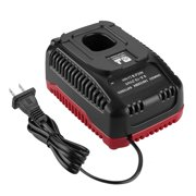 Replacement Battery Charger for Craftsman C3 9.6Volt and 19.2 Volt Ni-Cd & Lithium-Ion Battery (Black-red)