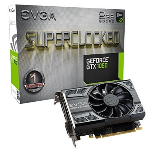 EVGA GeForce GTX 1050 SC GAMING, 2GB GDDR5, DX12 OSD Supp...
