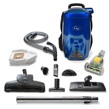 BLUE GV 8 Qt Quart Light Powerful HEPA BackPack Vacuum blower Loaded w 2 yr warranty