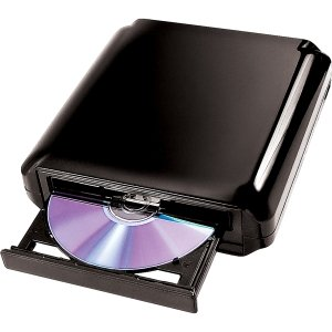 I/OMagic IDVD24DLE External DVD-Writer. DVDRW DRIVE 24X EXT USB2.0 DUAL FORMAT LAYER W/ PLAYBACK S/W DVD. DVD-RAM/ R/ RW Support